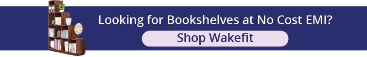 Bookshelf for living room   Wakefit
