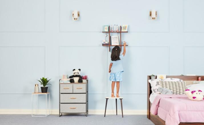 Tic-Tac-Toe wall shelf