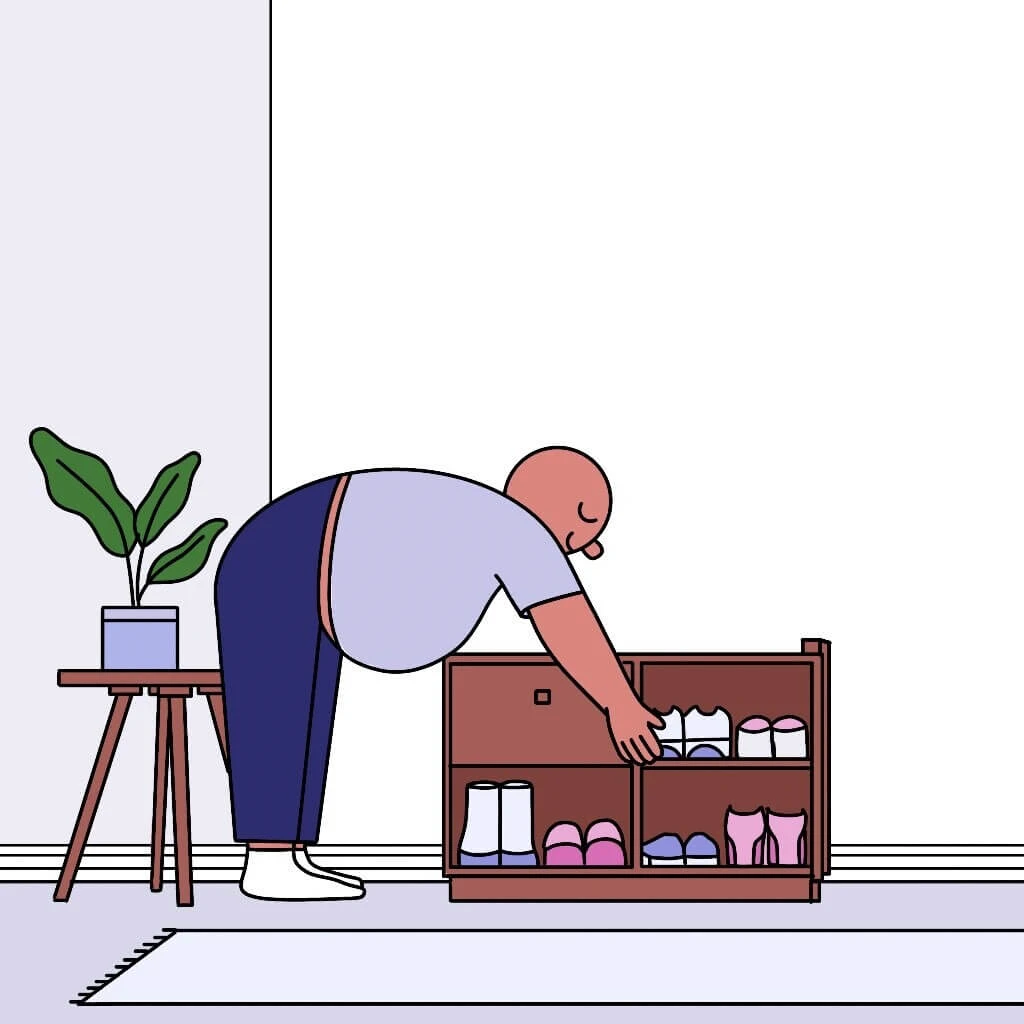 shoe rack illustration