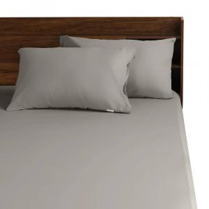 Dark gray cotton bedsheet wakefit