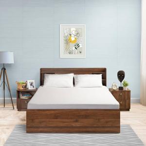 White cotton bedsheet wakefit