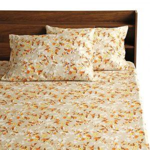 Periwinkle cotton bedsheet wakefit