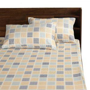 Chekkers cotton bedsheet design