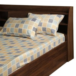 Chekkers cotton bed sheet wakefit