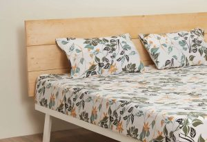 Autumn Sunset cotton bed sheet