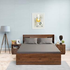 Dark Grey cotton simple bed sheet|wakefit