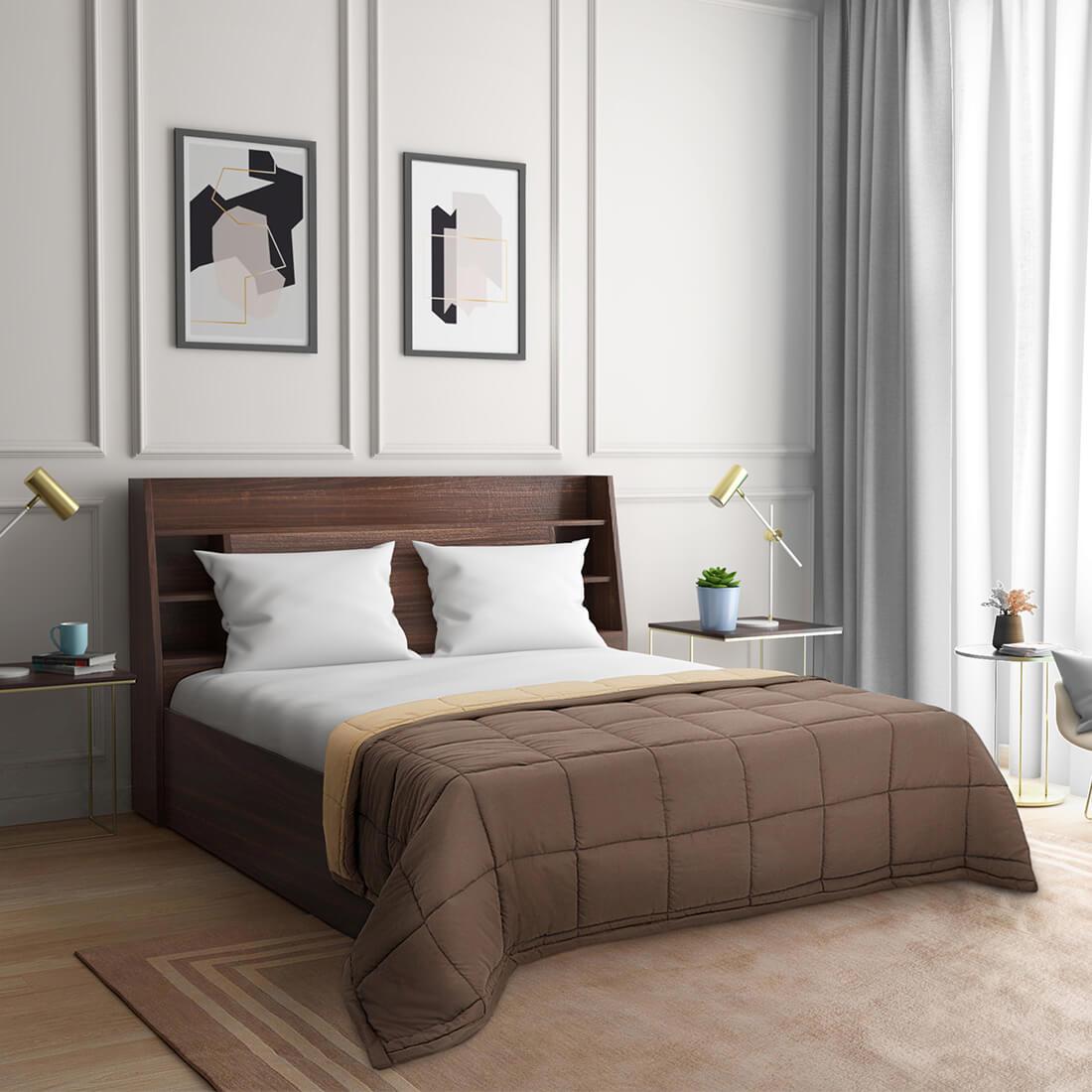 Wakefit Single Siliconised Microfibre Reversible Comforter
