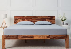Andromeda Sheesham Wood Bed