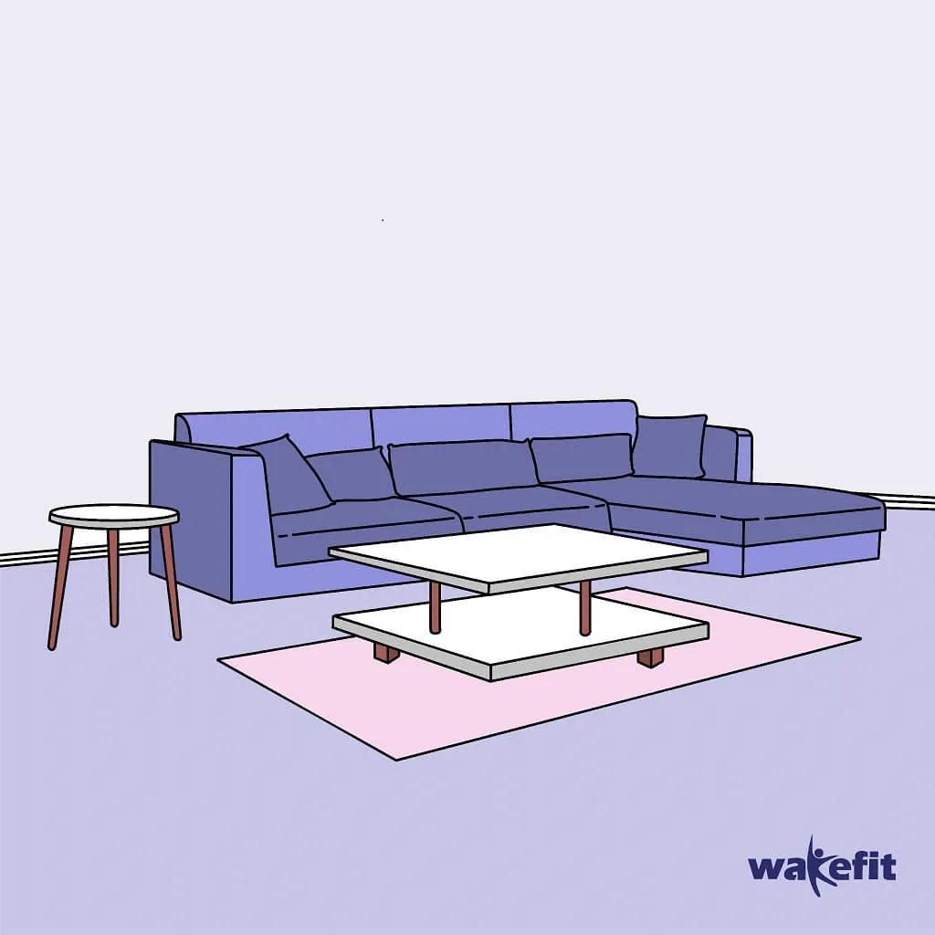 Wakefit L shape Sofa